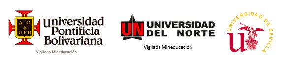 Logos UPB, Universidad del Norte y Universidad de Sevilla
